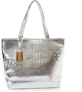 Womens Large Crocodile Tote Purse Satchel Lady Shoulder Handbag Travel Beach Bag