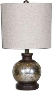 Uttermost 26208-1 Arago Antique Glass Table Lamp, Beige