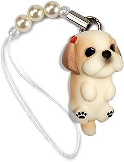 ペットラバーズ 犬種 Dog 92 Shih Tzu シーズー ゴールドホワイト ビーズ ストラップ DN-5001