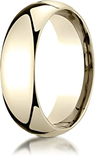 Men's 14K Yellow Gold 7mm Slim Profile Comfort Fit Wedding Band Ring