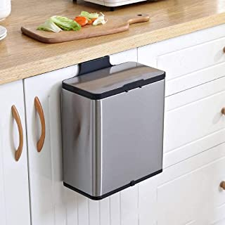 Montado En La Pared Cubo De Basura Para Cocina Con Cubo Interior Moderno Ermético A Olores Cubo De Basura Rectangular Ace...