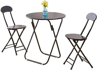 ZWD Table et Chaise dextérieur Combinaison Balcon Pliant 3