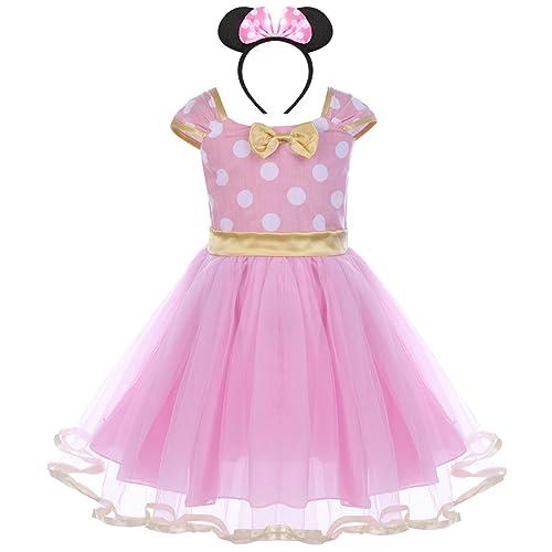 052da9af6 FYMNSI Princess Polka Dots Minnie Birthday Costume Outfits Baby Girls  Ballet Tutu Dress+Bowknot Headband