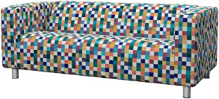 Soferia - IKEA KLIPPAN Funda para sofá de 2 plazas, Mozaik White