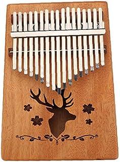 Nicedier 17 Claves Mbira Pulgar Pulgar Piano Piano Piano Kalimba Dedo de Madera con Ajuste de Herramientas y tutoriales