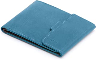 Bellroy Leather Coin Fold Wallet Arctic Blue
