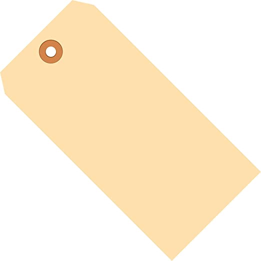 13 Point Cardstock Green 5-3//4 Height x 2-7//8 Width Aviditi G11072D Pre-Strung Shipping Tag Case of 1000
