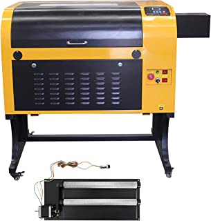 TEN-HIGH Upgraded Version CO2 400x600mm 80W 120V Laser Engraving Cutting Machine with USB Port,Include Rotary axis