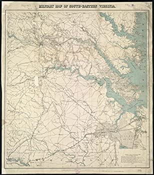 Gifts Delight Laminated 24x27 Poster  Military map of South-Eastern Virginia Zoom into This mapa atUnited States Coast SurveyPubli