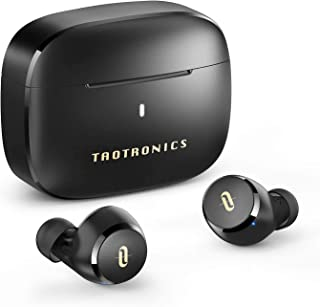 TaoTronics Wireless Earbuds with mic CVC 8.0 Noise Cancelling Bluetooth 5.0 Earphones, in-Ear AptX Stereo True Wireless He...