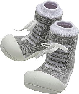 Attipas Sneaker Baby Walker Shoes, Grey, Medium
