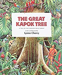 A screenshot of the cover of the book The Great Kapok Tree
