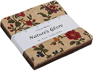 Nature's Glory Charm Pack by Kansas Troubles Quilters; 42-5 Inch Precut Fabric Quilt Squares