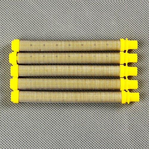 10x Pistolenfilter Filter für Farbspritzpistole Airless 100 mesh gelb