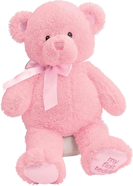 Gund Baby My First Teddy-Medium-Pink