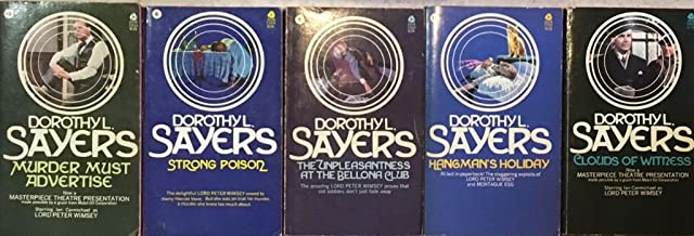 Dorothy L. Sayers 4 Book Set - The Unpleasantness at the Bellona Club - Strong Poison - Murder Must Advertise - Hangman's ...