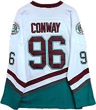 Gmjay Charlie Conway #96 machtige eenden ijshockey Jersey film hockey wit gestikte letters nummers S-XXXL