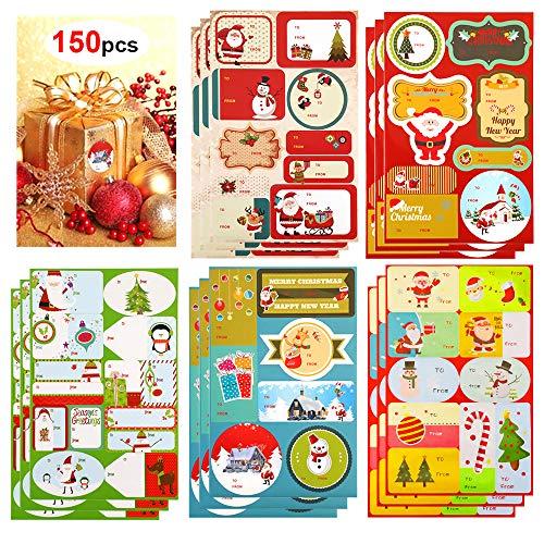 Etiquetas Navidad Regalo Adhesivas Marca HOWAF