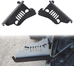 Pair AUXMART Foot Pegs for 2007-2017 Jeep Wrangler Jk /& Unlimited Black