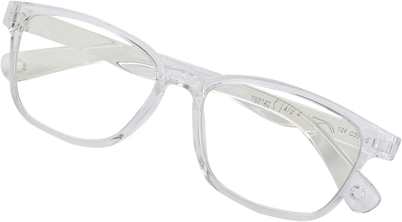 Kids Blue Light Blocking Glasses, Computer Gaming Glasses for Girls & Boys Prevent Myopia (3-12 Years) (Transparent)