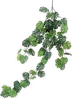 Lumierechat モンステラ ガーランド フェイクグリーン インテリア 造花葉物 ハワイ トロピカル 装飾 飾り a-b5958