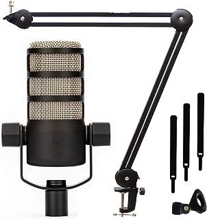 Rode Podmic MS138 - Micrófono profesional para podcasts y soporte de mesa