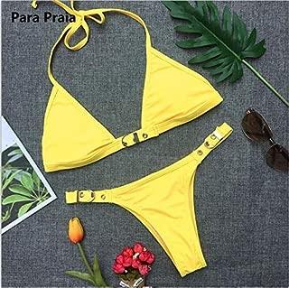 BEESCLOVER Bikini Set Swimwear Women Swimsuit Bandage Mini Bikini Push Up Swimsuit Biquini Adjustable Size Beachwear