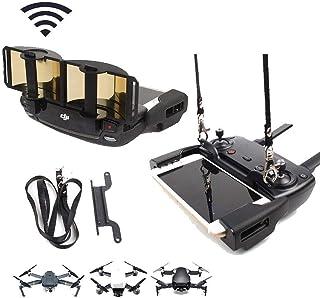 TsLYY DJI Mavic Mini・Mavic Air・Spark・Mavic2 pro・Mavic2 zoomドローン用アンテナブースター+付属ストラップ 信号ブースター 折りたたみ式 ゴールド