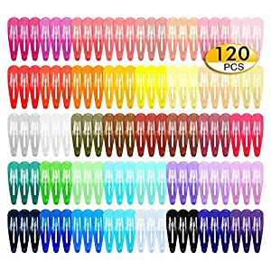 Beauty Shopping 120Pcs Snap Hair Clips, 2 Inch Metal Barrettes in 40 Assorted