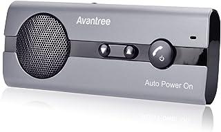 Avantree 10BS Freisprechanlage für Auto Bluetooth mit Auto Power On Bewegungssensoren, Wireless In Car Freisprecheinrichtung Sonnenblenden Kfz Kit, Unterstützt GPS, Kompatibel mit iPhone, Samsung