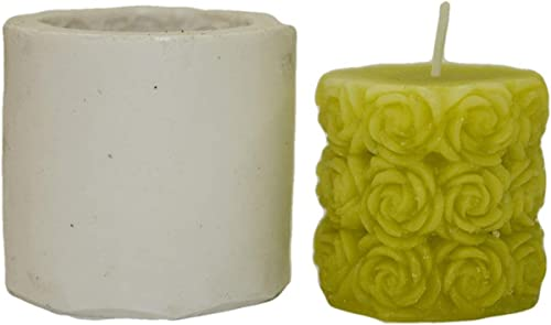 Niral Industries Silicone Rose Rubber Candle Mold (White)