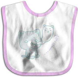 UBCATDESA Sleeping Bear Baby Bibs, Unisex Baby Soft Cotton Easily Clean Teething Bibs(Blue&Pink)