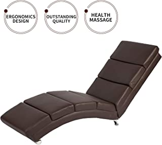 Aoxun Massage Recliner Chair - Leather Ergonomic Modern Upholstered Chaise Lounge for Indoor Furniture (Brown)