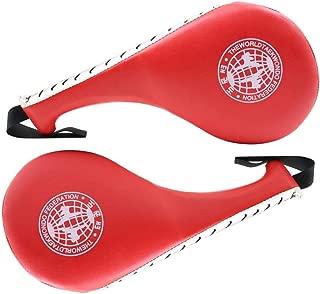 Taekwondo Durable Kick Pad Target Tae Kwon Do Karate Kickboxing Training-Red 2 Pack