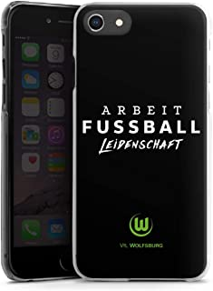DeinDesign Hard Case kompatibel mit Apple iPhone 7 Schutzhülle transparent Smartphone Backcover VFL Wolfsburg Offizielles Lizenzprodukt Statement