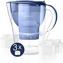 Aigostar Pure 30LDV – Caraffa filtrante per l'acqua da 3.5L. Incluso 3 cartucce filtranti. Display LCD per il conto alla rovescia automatico. BPA FREE. Color Blu.