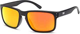 Gamma Ray Men's Polarized Sunglasses Square Mirrored Sunglasses