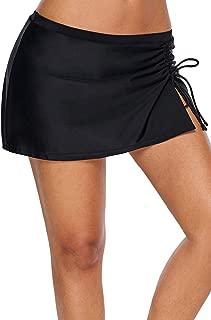 Lopie Women Lace Crochet Swim Skirt Bikini Bottom Swimsuit Board Shorts Skort Swimdress