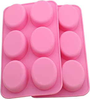 WARMBUY Oval Silicone Mold for Soap Bar Making (2 Pack)