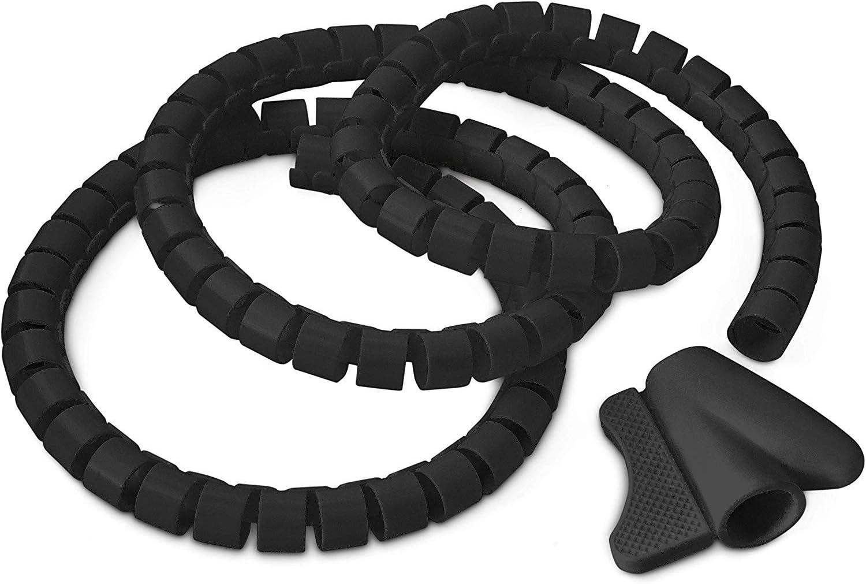 Relaxdays Kabelschlauch 1 5m Kabelkanal Kürzbar Aus Elektronik