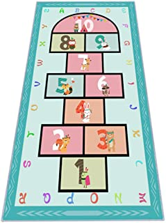 """Hopscotch Rug 63""""x31, Hop and Count Game Rug with..."""