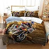Bedclothes-Blanket Juego de sabanas Infantiles Cama 90,SANDET Ropa de Cama de Motocicleta de la impresión de Tres Piezas-1_210 * 210
