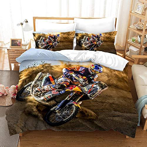 Bedclothes-Blanket Juegos de Fundas para edredón,SANDET Ropa de Cama de Motocicleta de la impresión de Tres Piezas-1_260 * 230