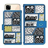 iPhone 12 スライド式 手帳型 スマホケース スマホカバー dslide528(F) スマイル ニコちゃん コミック ネーム アイフォントゥエルブ アイフォン12 iphone12 スマートフォン スマートホン 携帯 ケース アイフォントゥエルブ アイフォン12 iphone12 手帳 ダイアリー フリップ スマフォ カバー