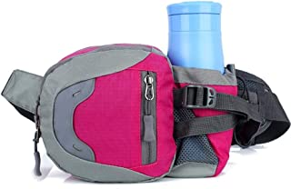 Sport Waterproof Leisure Lightweight Waist Pack, Men's and Women's Multifunction Waist Bag Can Place A Kettle Breathable Comfort Durable Outdoor Sports, Running, Hiking, Etc. (Color : Rose)