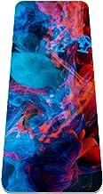 Vriendelijke Dikke TPE Getextureerd, Non-Slip Extra Grote Yoga Mat, Abstract mooi