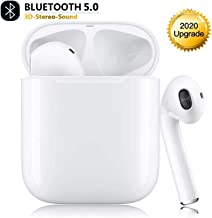Wireless Earbuds Bluetooth 5.0 Headphones in-Ear Noise Cancelling Bluetooth Headphones 3D Stereo IPX5 Waterproof Headset with Fast Charging Case for Apple Airpods pro iPhone Android Sport Earbud