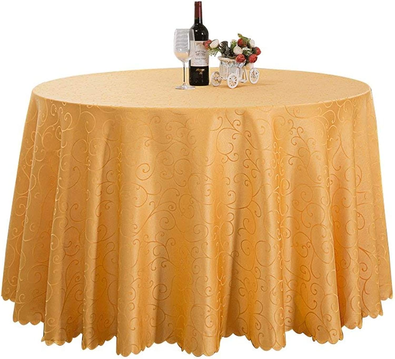 ZTMN Style européen Nappe Ronde Restaurant Restaurant réunion de Mariage réunion épaisse Nappe Ronde (Couleur  Jaune, Taille  3,6 m)