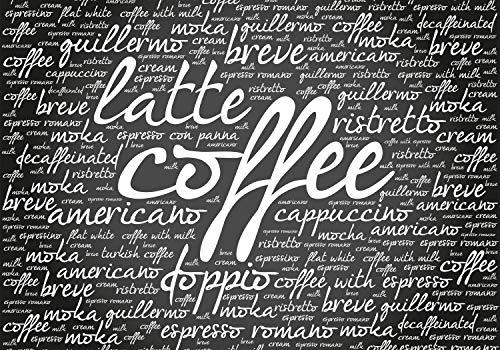 wandmotiv24 Fototapete Latte Coffee Küche XS 150 x 105cm - 3 Teile Fototapeten, Wandbild, Motivtapeten, Vlies-Tapeten Cappuccino Kaffee Mokka M6154