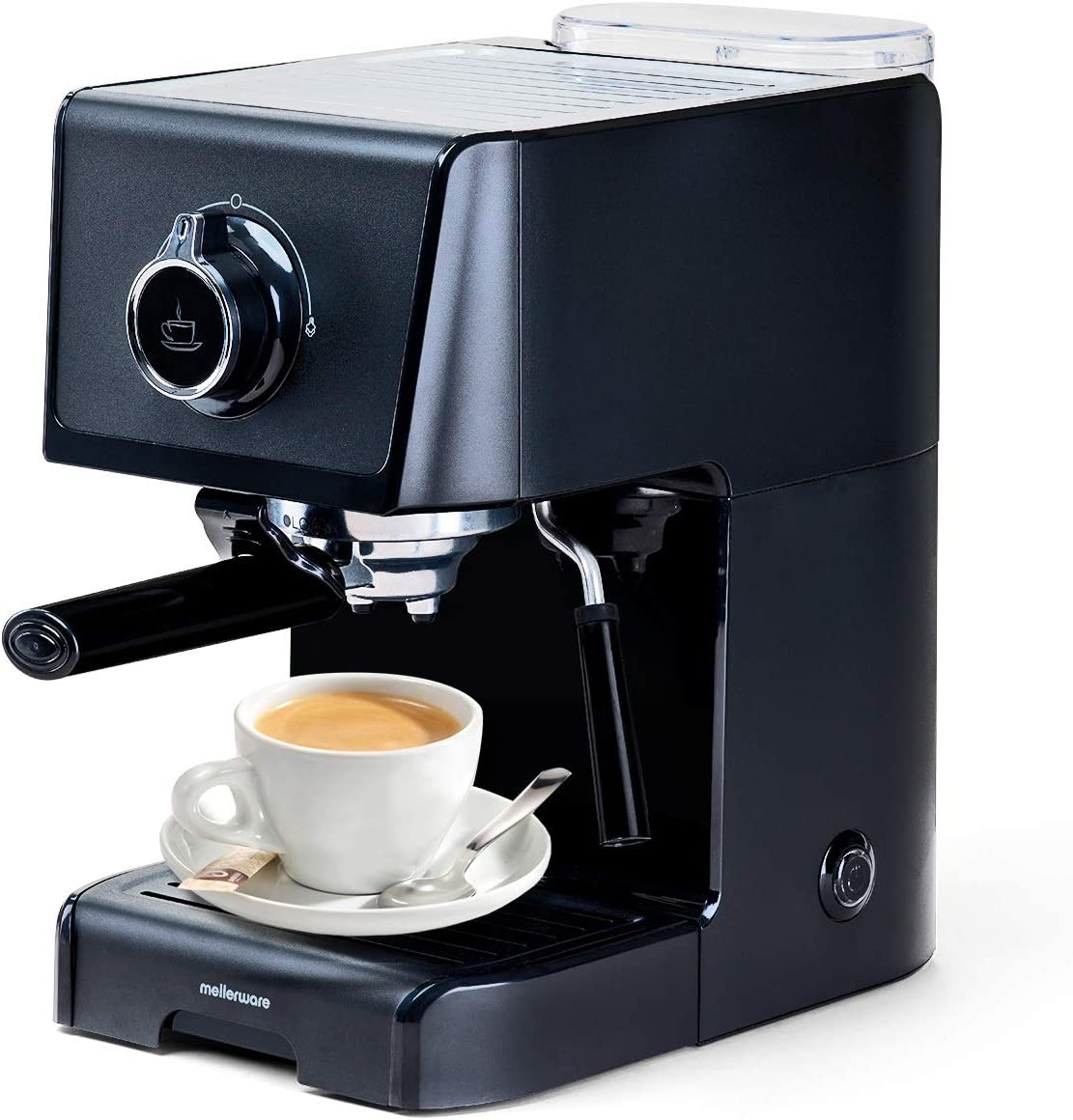 Cafetera express para espresso y capuccino. 1200W 15 Bares. Vaporizador orientable. Capacidad 1,2L Café molido y monodosis. Cafetera eléctrica. Bandeja Calientatazas. Modelo KOFFY!